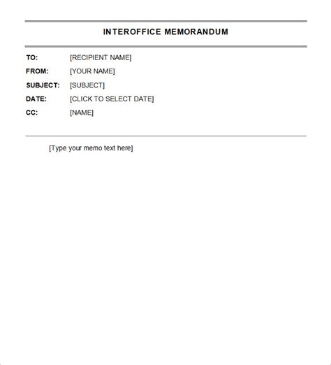 interoffice memo template  word  google docs