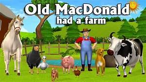 Old Macdonald Had A Farm 3d Animation English Nursery