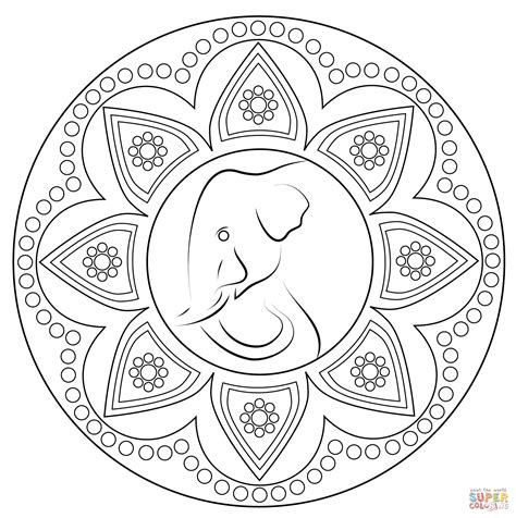 indian coloring pages indian rangoli with elephant coloring page free