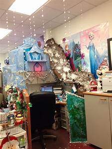 My, Frozen, Themed, Christmas, Cubicle