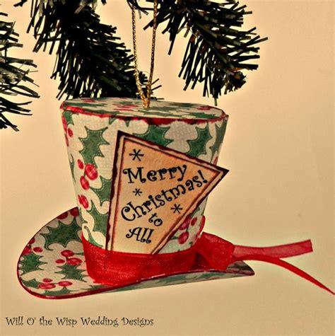 mini top hats tree ornaments christmas ornaments