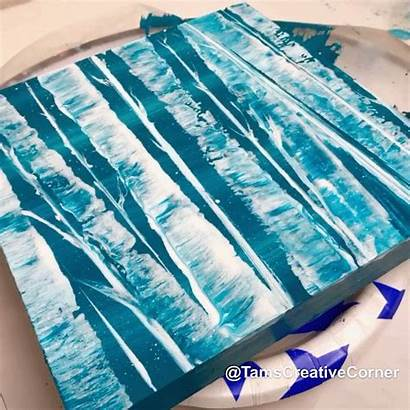 String Pull Canvas Acrylic Painting Paint Easy