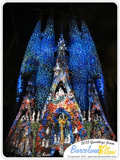 barcelona  pictures sagrada familia light show
