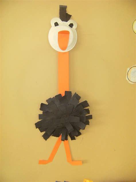 oo   ostrich letter  crafts letter  crafts