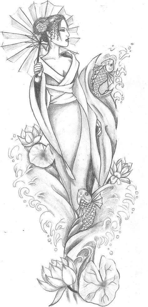 Geisha - sketch inspiration | Sketches, Drawings