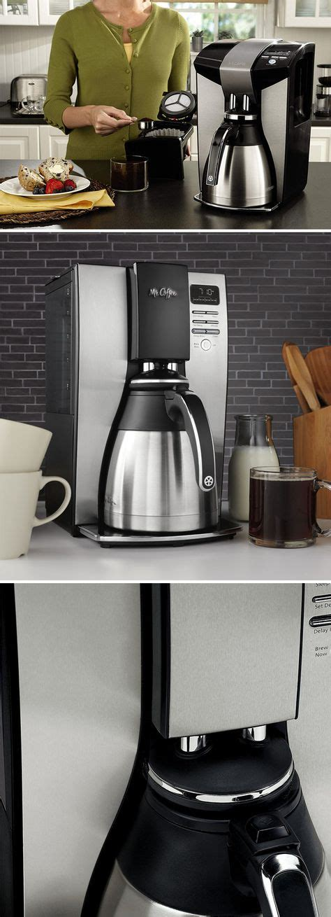 Thermal carafe coffee makers keep coffee warm for hours. Mr. Coffee BVMC-PSTX95 10-Cup Optimal Brew Thermal Coffee ...