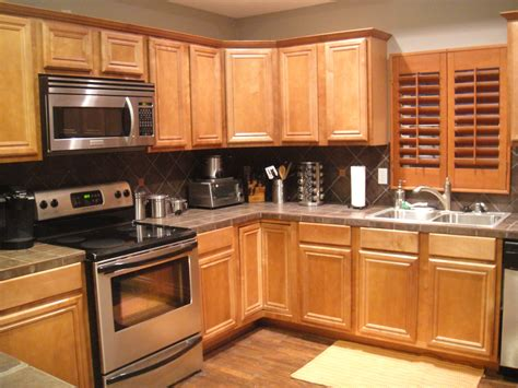 kitchen color ideas with light oak cabinet collections