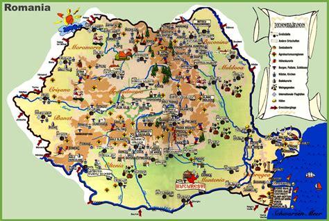 travel map  romania