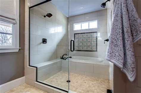 Dual Shower-spanish Tile Accent-traditional-bathroom