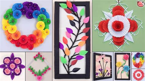 Diy wall art and decorating ideas are fun, fascinating and can be a great way to bring the family here is a collection of 50 gorgeous diy wall art ideas along with links that will lead you to detailed from colorful paper and crayons to water colors and some tape, these stunning diy ideas come from. 10 Genius Paper Craft Idea !!! DIY Room Decor !!! Wall Hanging - YouTube