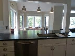 kitchen island with posts incorporate a support post into kitchen island home ideas islands kitchen