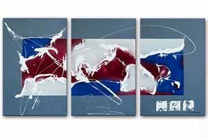 triptique moderne gris rectangle grand formattableaux With couleur peinture moderne pour salon 15 tableau moderne grand format rectangle gristableau
