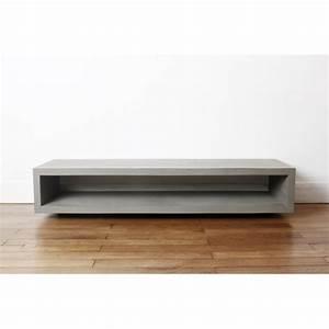 Table Basse Tv : table de t l vision monobloc en b ton otoko ~ Melissatoandfro.com Idées de Décoration