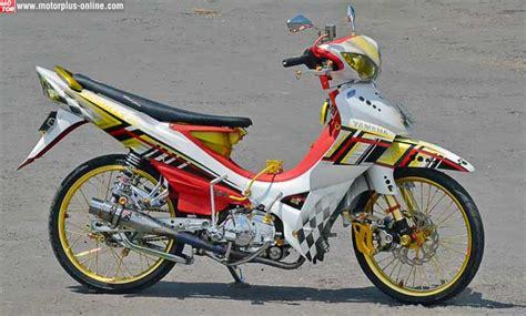Modifikasi Sederhana Jupiter Z by Modifikasi Jupiter Z1 Terbaru Racing Drag Velg Jari Jari