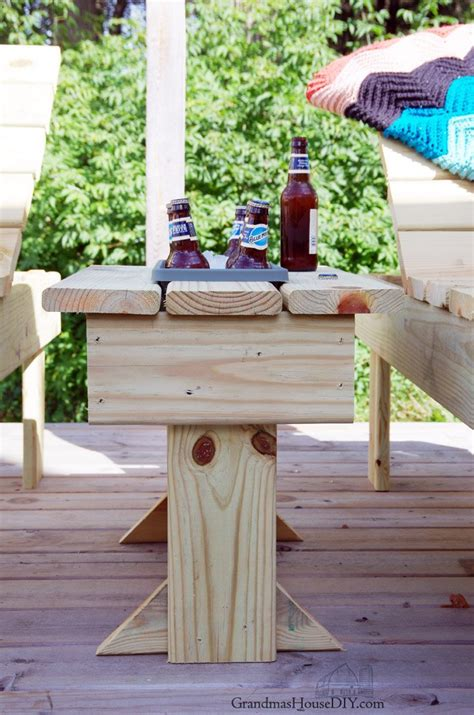 outdoor  table  built  cooler  flower planter