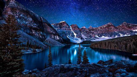 Milky Way Galaxy Wallpaper 1920x1080 Moraine Lake Valley Of The Ten Peaks Wallpaper Wallpaper Studio 10 Tens Of Thousands Hd