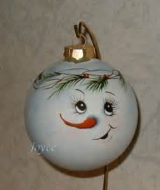 joyce s tole painting snowman ornaments christmas painted items