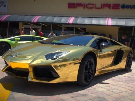 cool golden cars cool cars gold plated lamborghini aventador lp700 4