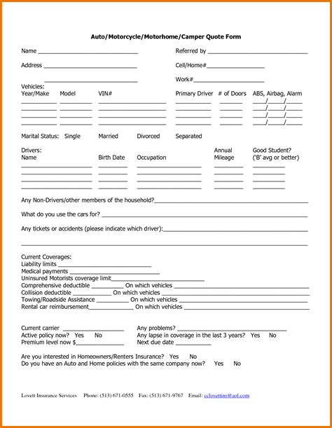 Boat Insurance Quote Sheet by Rental Insurance Quotes Quotes Of The Day