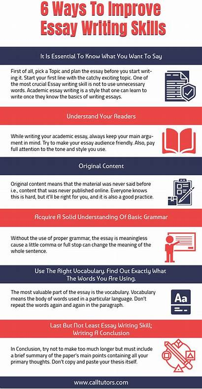 Infographic Essay Writing Improve Skills Infographics Tv