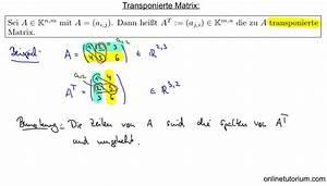Transponierte Matrix Berechnen : mathematik nachhilfe videos vorlesungen bungen v matrizen lineare algebra ~ Themetempest.com Abrechnung