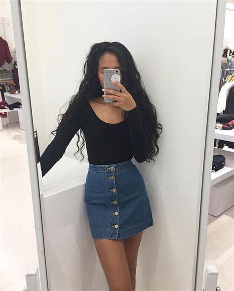 Best 25+ Denim skirt ideas on Pinterest | Jean skirt Jean skirts and Denim skirts