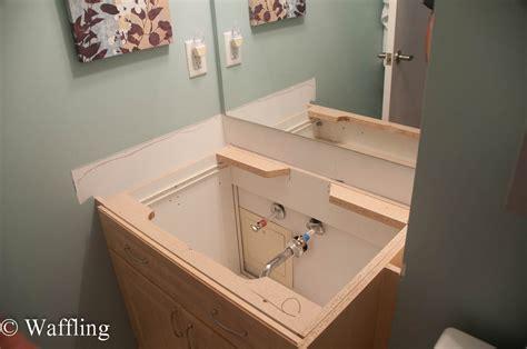 replace bathroom vanity sink waffling installing a new bathroom countertop