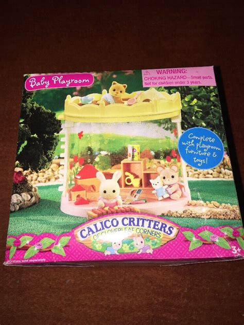 new calico critters baby playroom with furniture amp toys 876 | s l1000