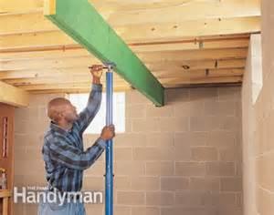 Floor Joist Support Jacks by Fixing Bouncy Floors The Family Handyman