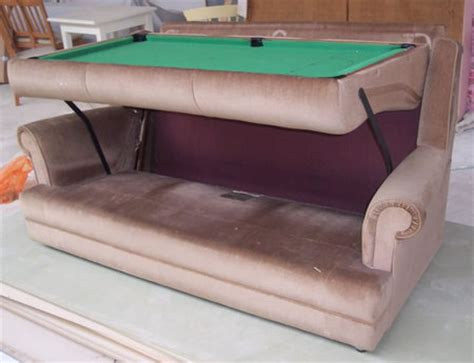 all in one pool table a pool table and sofa all in one