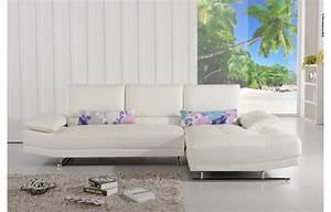 Les Plus Beaux Canapés : canap d 39 angle design 3 places en cuir m ridienne dalia teck in home ~ Melissatoandfro.com Idées de Décoration