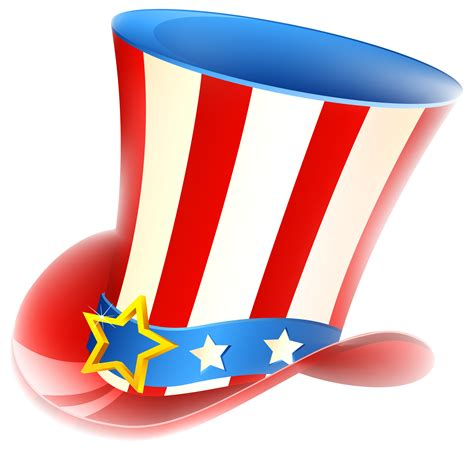 patriotic uncle sam hat png clipart gallery yopriceville