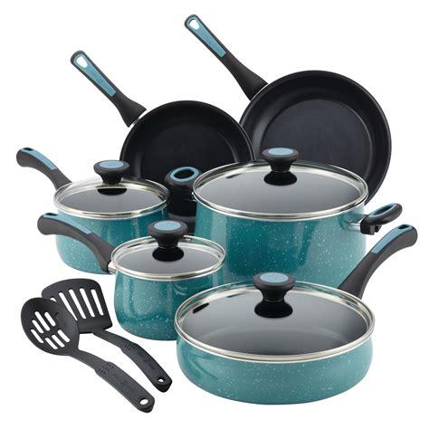 cookware paula deen nonstick sets kitchen aluminum piece speckle