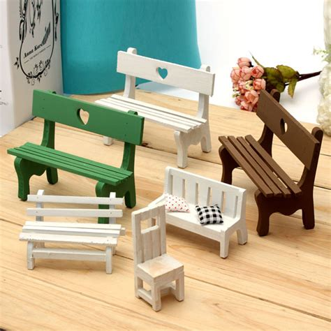 mini resin bench micro landscape decorations garden diy
