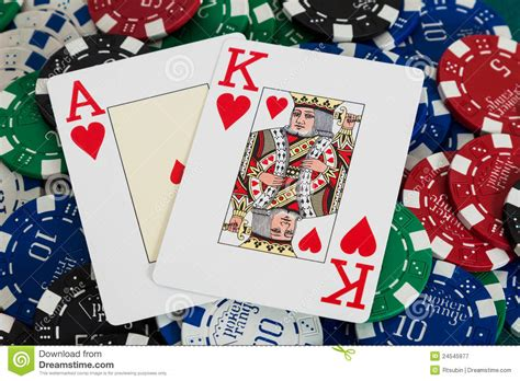 blackjack cards  casino chips royalty  stock