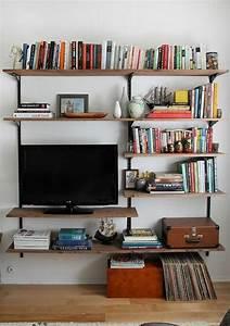 Meuble Tv Avec Etagere : le meuble tv style industriel en 50 images ~ Teatrodelosmanantiales.com Idées de Décoration