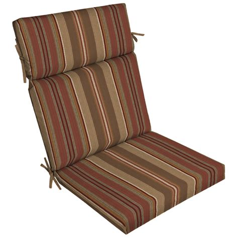 shop stripe chili standard patio chair cushion at lowes