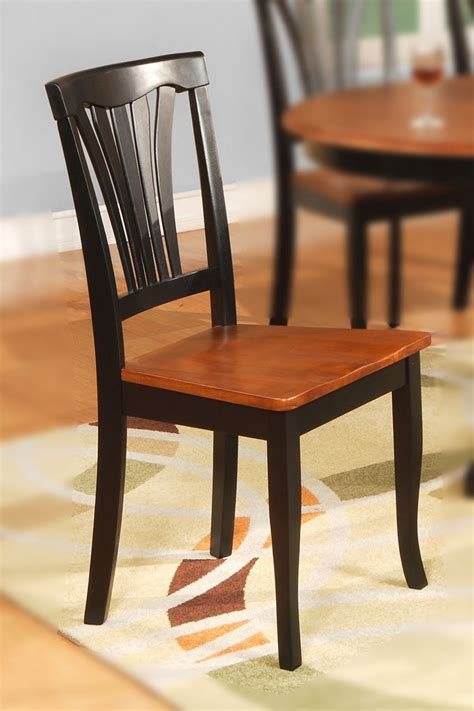 set of 2 avon dinette dining chairs with plain wood seat
