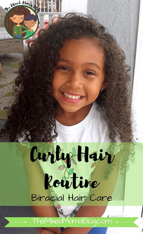 go to curly hair routine biracial hair care mixed family