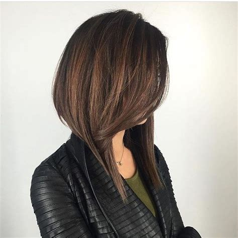 Women's Long Dramatic A Line Bob with Front Layers and