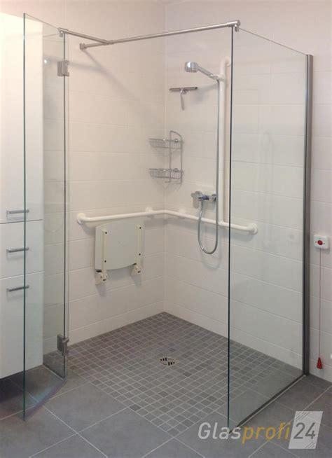 bodengleiche dusche mit wegklappbaren glastüren ebenerdige dusche bauen aus glas glasprofi24