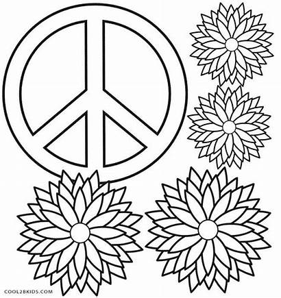 Coloring Pages Peace Sign Adults Printable Wiccan