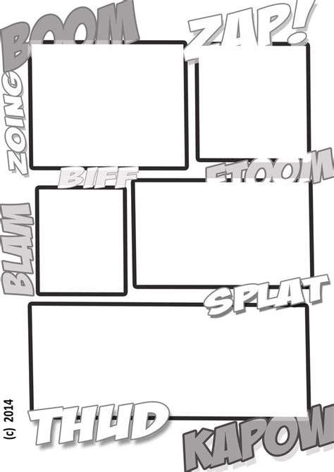 a comic book style template for to create their own comic adventure great for