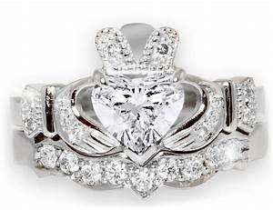 1 carat diamond claddagh engagement ring diamond With diamond claddagh wedding ring