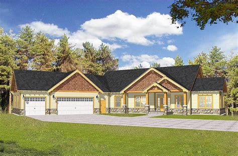 House Plans With Vaulted Ceilings by Craftsman With Vaulted Ceilings And Angled Garage