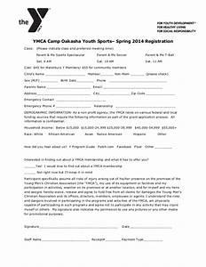 ymca camp oakasha spring parent me sports registration form With sport registration form template