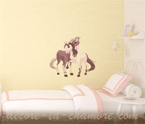 stickers chevaux pour chambre fille zoom sticker cheval et poulain zoom stickers chevaux