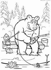 masha e urso bear boomerang desenhos imprimir colorir With maestro boomerang