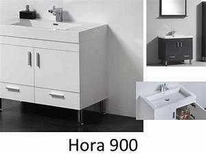 Meuble Salle De Bain 90 : meubles lave mains robinetteries meubles sdb meuble de salle de bain 90 cm hora 900 blanc ~ Teatrodelosmanantiales.com Idées de Décoration