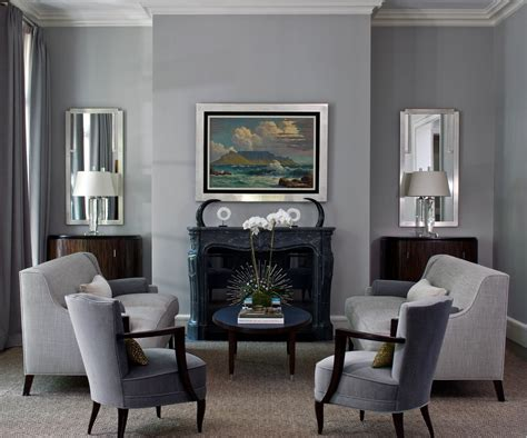 Elegant Gray Living Room Vogue Chicago Contemporary Living Room Decorating Ideas With Accent